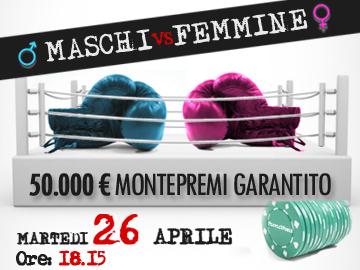 Maschi vs Femmine: un duello da 50mila euro!