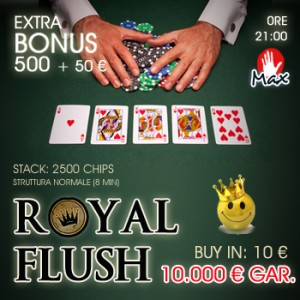 Col Prize Pool Surprise il Royal Flush a 10mila euro!