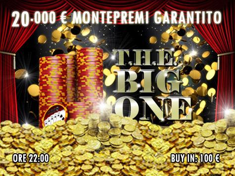 """T.H.E. Big One si fa """"grande""""! 20mila euro garantiti per una serata all'insegna del divertimento!"""