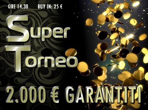 Nostalgia da Super Sunday?  Alle 14:30 c'è un Super Torneo da 25 Euro!
