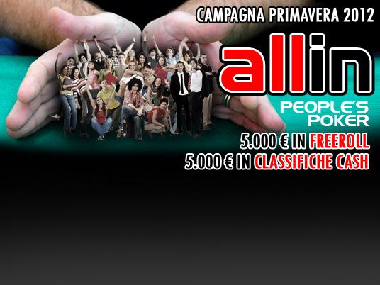 Tutti pronti a fare all-in People's Poker, con la campagna di Primavera 2012!