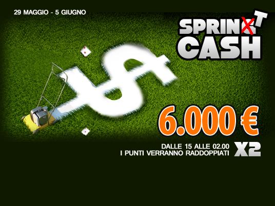 Tutti pronti ad un nuovo SprinT, con 6mila euro in palio con le classifiche cash!