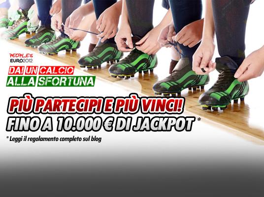 L'Italia in finale rende i giocatori People's più ricchi:  raddoppiati i Jackpot, si comincia dall'8 luglio!