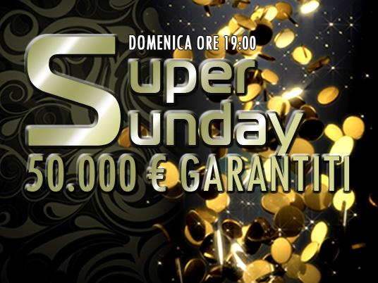 Domenica pomeriggio senza calcio? Tranquilli, il 24 alle 19 c'è un Super Sunday da 50mila euro!