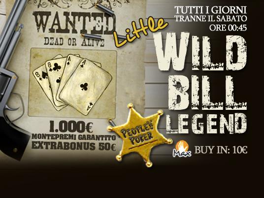 La leggenda di Wild Bill e della mano del morto torna a rivivere nella nostra lobby con un extrabonus di 50€
