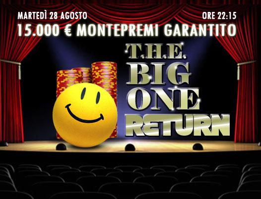 Il Ritorno del Big One: questa sera facciamo la voce grossa con 15mila euro garantiti!