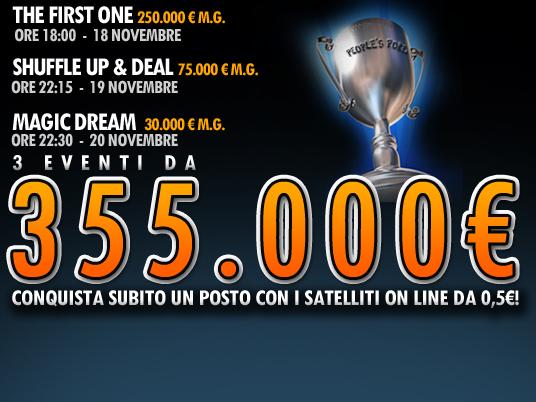 Meglio cominciare sempre dal Primo!  Domenica il First One da 250.000 Euro aprirà una ricca stagione!