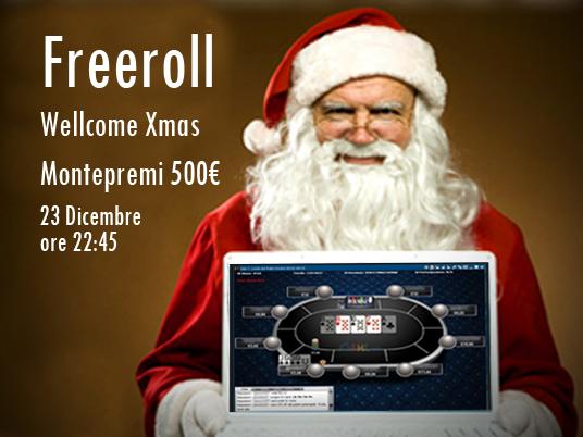 Wellcome Xmas: freeroll da 500 € stasera sul nuovo Client
