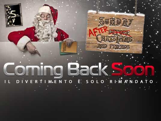 Before o After Christmas, l'appuntamento con il Sunday di Natale è solo rimandato!