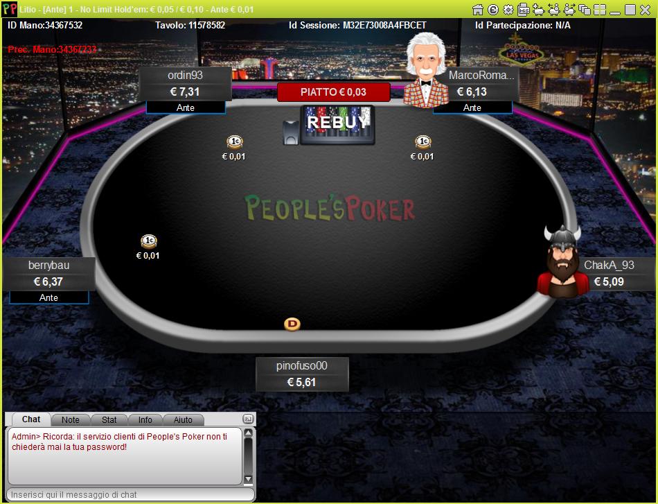 Novità assoluta in Italia: su People's Poker sono arrivati i tavoli cash con l'Ante