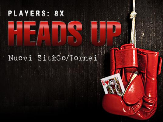 New Heads Up 8X: la sfida per gli specialisti del testa a testa prosegue sul nuovo Client!