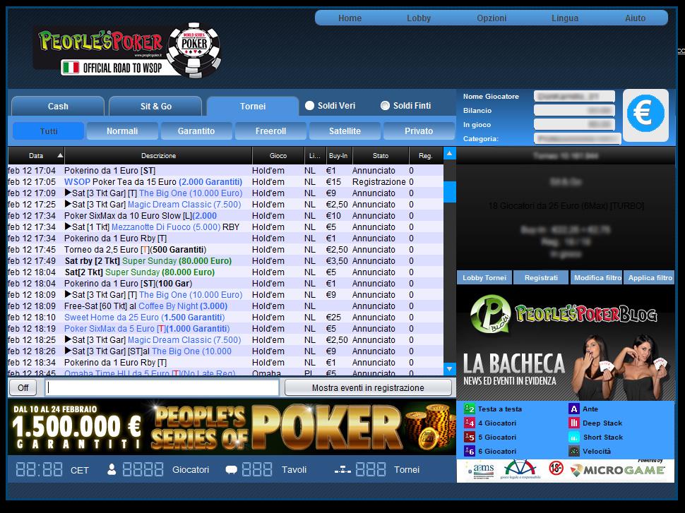 Dopo l'intervento la lobby di People's Poker torna online… con due grandi sorprese!