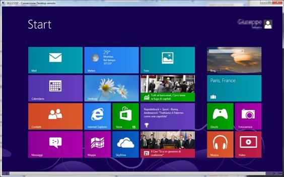 Suggerimento per l'utilizzo del nuovo Client con Windows 8