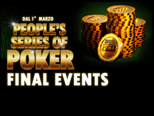 People's Series of Poker Final Events: è tempo di finali, ma preparatevi ad un Raise-Up da 3milioni!
