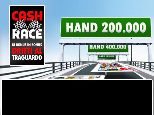 A marzo parte la Cash Race: si punta al traguardo passando di bonus in bonus!