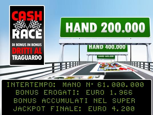 Superate le 6 milioni di mani, la Cash Race si lancia verso lo sprint – e il Jackpot – Finale!