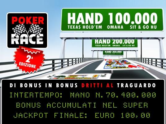 Cominciata la Poker Race, con gli intertempi bruciati a grande velocità!