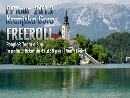 Freeroll PPTour Kranjska Gora – Questa sera 3 ticket da 1.650€ per il Main Event del Korona!