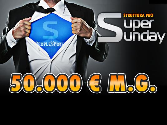 È già ora di pensare alla domenica, quando ti aspettano 50.000 Euro garantiti!
