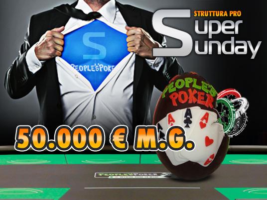 People's Poker vi augura Buona Pasqua con il Super Sunday da 50K!