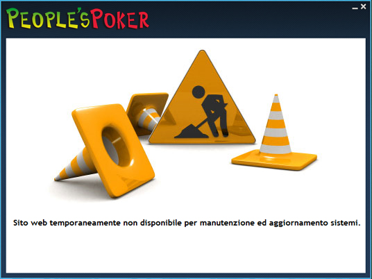 Piattaforma poker ancora in manutenzione, a breve la ripresa