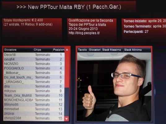 Verso il PPTour di Malta – Diego mette al sicuro il risultato!