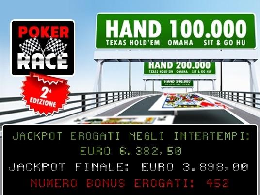 Finita la Poker Race, ecco i numeri e i premiati