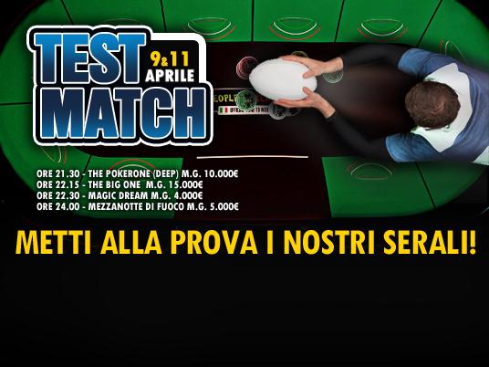 People's Poker ti sfida nei Test Match: stasera e giovedì metti alla prova i nostri serali!