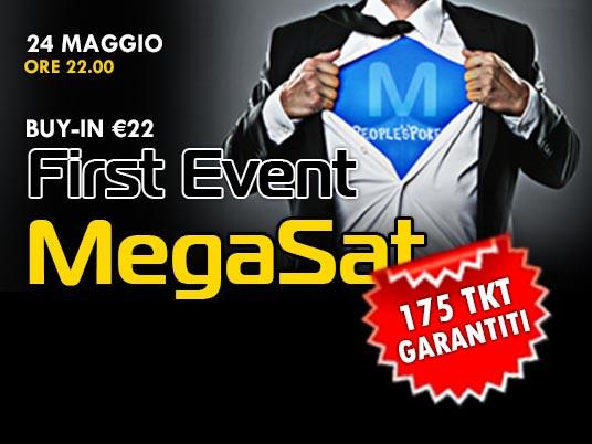 First Event MegaSat: 175 ticket garantiti per il Mega Sunday da 160K!