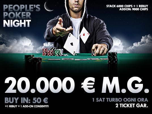Preparatevi alle follie con People's Poker Night: vi aspetta una notte da 20.000 Euro!