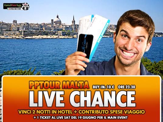 Verso il PPTour di Malta – Questo weekend ultime tre chance con il Live Chance!