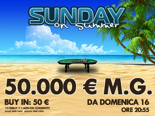 Questa estate la domenica di People's Poker vale 50.000 Euro!