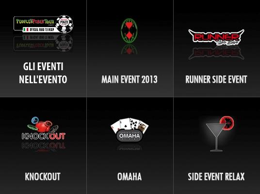 People's Poker Tour 2013 – Gli Eventi nell'Evento