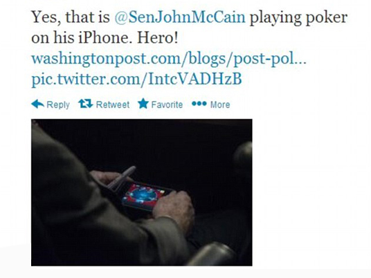 Poker e Politica estera: John McCain svela le sue carte sull'intervento in Siria