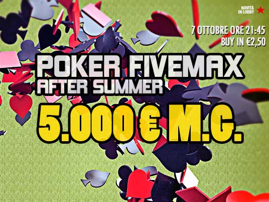 FiveMax After Summer: pronti al primo shuffle up and deal?
