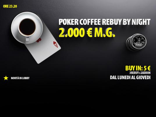 Poker Coffee By Night: stasera in scena il bis.