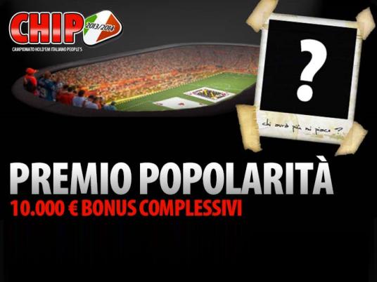 CHIP 2013/2014 – Corsa al Premio Popolarità da 10.000 Euro, vince anche chi vota