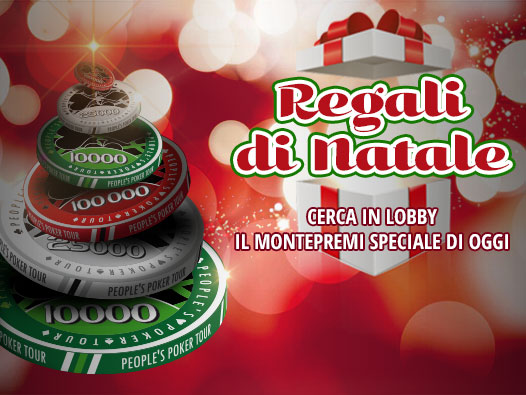 """Su People's Poker arrivano i """"Regali di Natale"""": cerca ogni giorno il torneo con montepremi speciale!"""