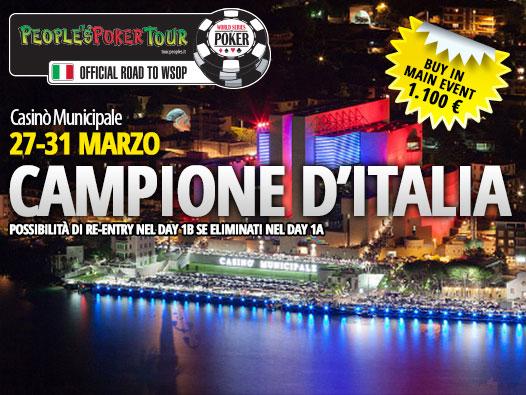 PPTour Campione d'Italia, si parte stasera: alle 21 il primo satellite per il Main, valore 1.800