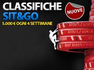 Nuove Classifiche Sit&Go: conquista ogni mese 5.000 Euro di bonus!