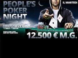 Ancora una volta supera il garantito il People's Poker Night!