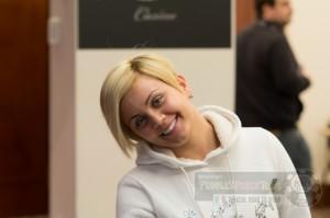 Priscilla Chiffi sorride al nostro obiettivo all'ultima tappa del People's Poker Tour