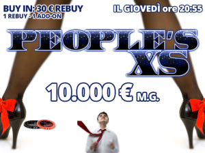Giovedì alle 20:55 preparati al People's XS… 10.000 Euro garantiti con un buy-in di 30 Euro!