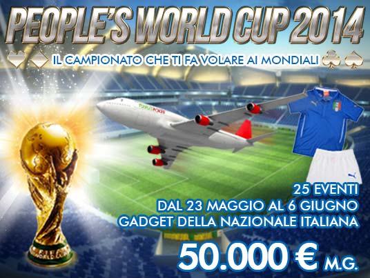 Stasera doppio appuntamento con People's World Cup