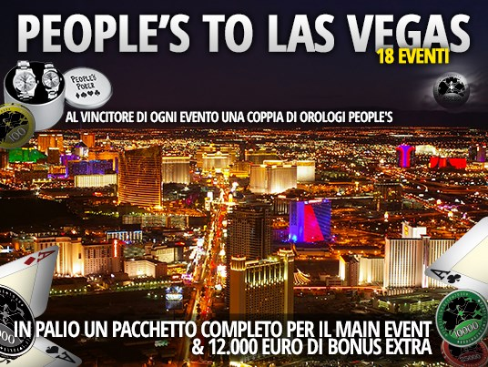 People's to Las Vegas classifiche in movimento. All'americano il 32 e stasera garantito a 5K per il 35