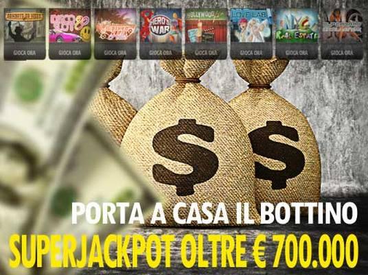 Il SuperJackpot su People's Casinò vola oltre i 700mila Euro!