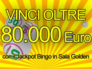 Nella Sala Golden del People's Bingo bastano 10 centesimi per conquistare il Jackpot da 80.000 Euro!
