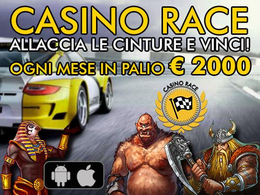 Tutti in gara con Casino Race: più giri più vinci!