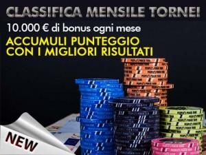 Nuovi criteri per le Classifiche Tornei Mensili, che premiano solo i migliori risultati!
