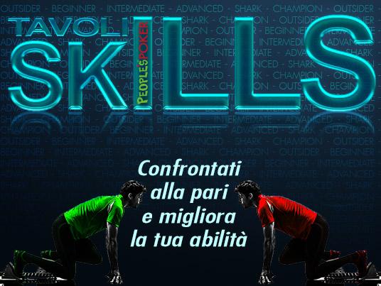 """Su People's Poker arrivano i nuovi Tavoli Cash """"Skills"""", per confrontarti alla pari e migliorare la tua abilità"""